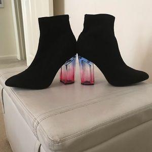 Black Slip on Ankle Boots